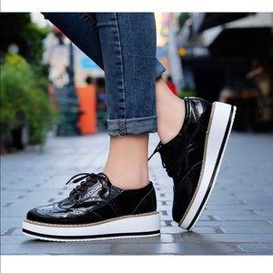 Shoes - Platform Lace-Up Wingtips Square Toe Oxford NWOT